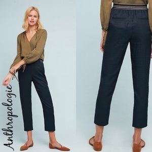Anthro Essential Pull-on Trouser Navy Jacquard